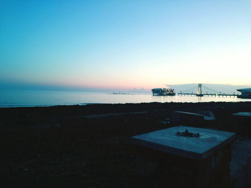 Durres Albania Dusk Sea View