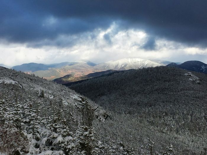 View from Phelps in the Adirondacks. Adirondacks New York Winter Autumn ADK Phelps Mountain Snowing First Eyeem Photo