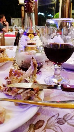 Greece YUNANİSTAN Tasos Dinner Dinner Time Wine Chickenmeal A Good Drink