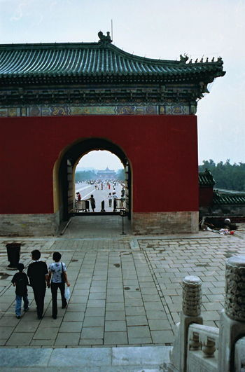 Temple of Heaven Park Entrance Ancient Arch Architectural Column Architecture Building Exterior Built Structure China, Beijing, Temple, Heaven, Spiritual, Religion Column Culture Day Entrance Façade Famous Place Historic History International Landmark Old Sculpture Spirituality