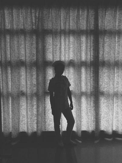 Silhouette Art Studentnurse Sabahan Blackandwhite