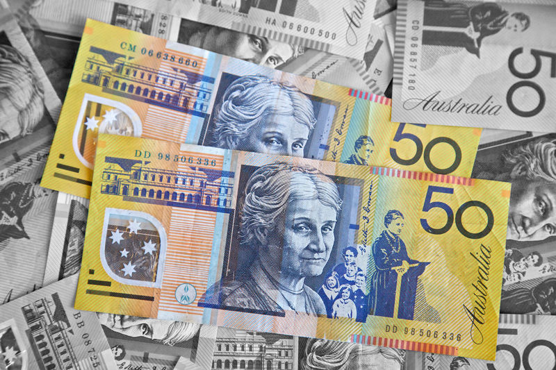 Australia Blackandwhite Currency Fifty Fifty Dollors Money Paper Currency Yellow