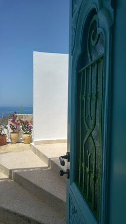 Porteourverte Opendoor Opendoorsproject Tourquise Tourquise Sea Blue Bluesky Fresh Freshness Breeze Roof