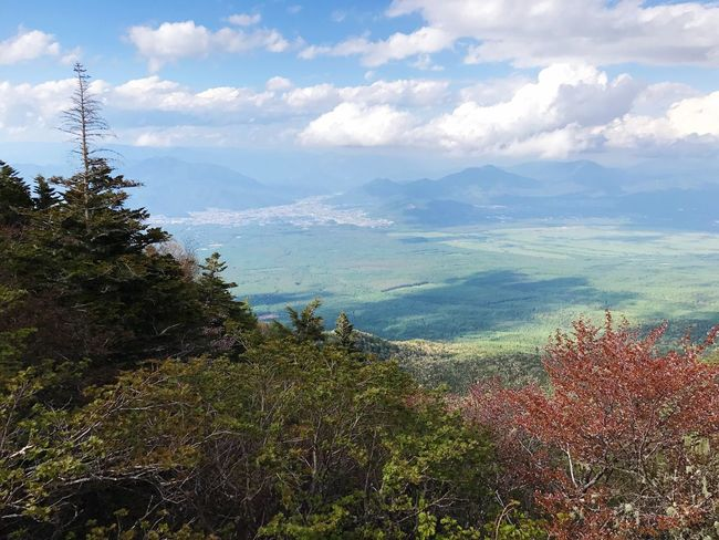 I was in 5th Station of Mt. Fuji Nature Mountain Beauty In Nature Scenics Tranquility Tranquil Scene Sky Tree Day Cloud - Sky Landscape Mountain Range Outdoors No People Growth Water Japan JapanLife Japan Photography Mt.Fuji