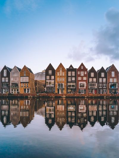Lined up Haarlem Netherlands Holland Reflection Built Structure Architecture Water Building Exterior House Waterfront Day Sky Rethink Things Traveling City Cityscapes Canal Travel Cityscape EyeEm Gallery Travel Destinations Travel Photography Street EyeEm Best Shots Photooftheday