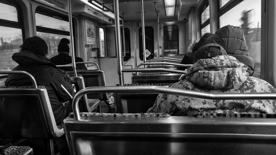 Blackandwhite Monochrome Dallas Portraits Morningcomute Indoors  Public Transportation Sitting Adult People Adults Only Day