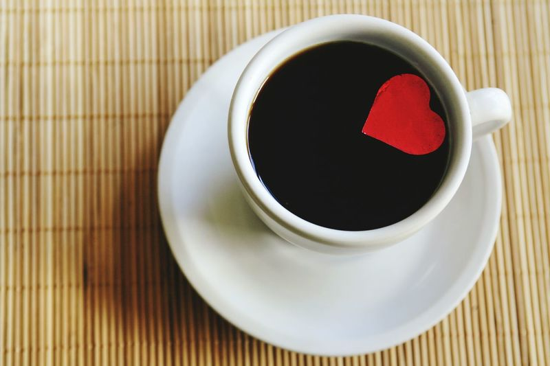 Tea - Hot Drink Hot Drink Cup High Angle View Close-up Coffee Coffee Time Coffee Cup Coffee At Home Coffeelovers Heart Heart Shape Redheart Coffee ☕