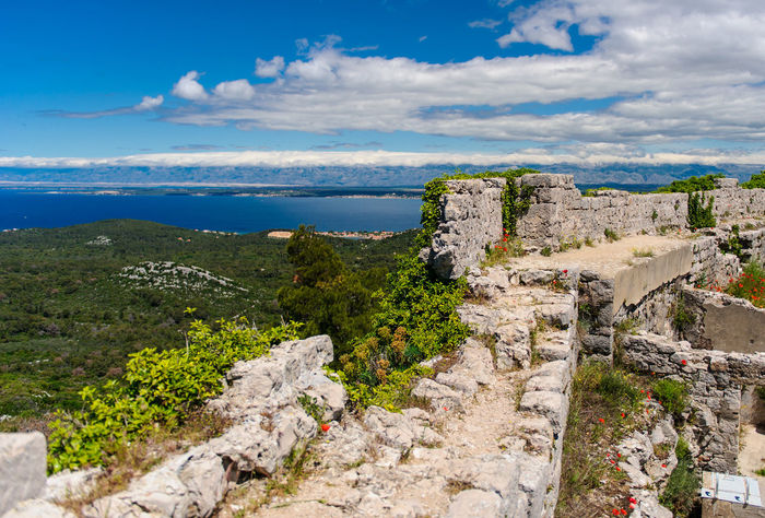 Beautiful nature landscape view from St. Michael Fortress in Croatia Castle Croatia Nature Zadar Zadar,Croatia Architecture Beauty In Nature Built Structure Cloud - Sky Europe Fortification Fortified Wall Fortress History Landmark Landscape No People Outdoors Ruined Scenery Scenics Sea St. Michael Sunny Day Travel Destinations