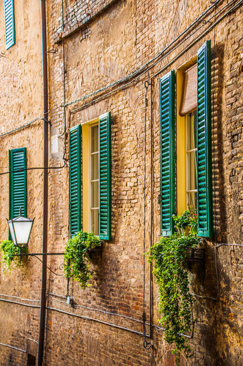 Architecture Architecture Brick Brick Wall Building Building Exterior Built Structure Façade Old Building  Old Building Exterior Perspective Residential Structure Streetlamp Toscana Tuscany Window Windows