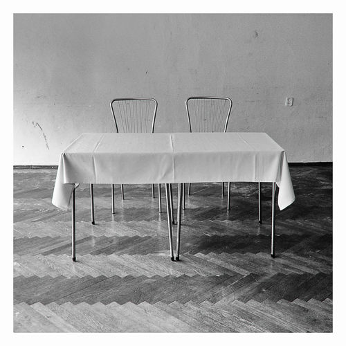 Piotr Adamczyk Photography Absence Arrangement Auto Post Production Filter Chair Day Empty Flooring Food And Drink Furniture Glass Household Equipment Indoors  No People Seat Setting Still Life Table Transfer Print White Wood - Material Visual Creativity EyeEmNewHere