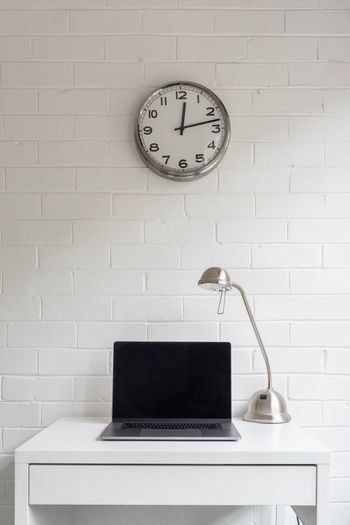 Clock on wall at home