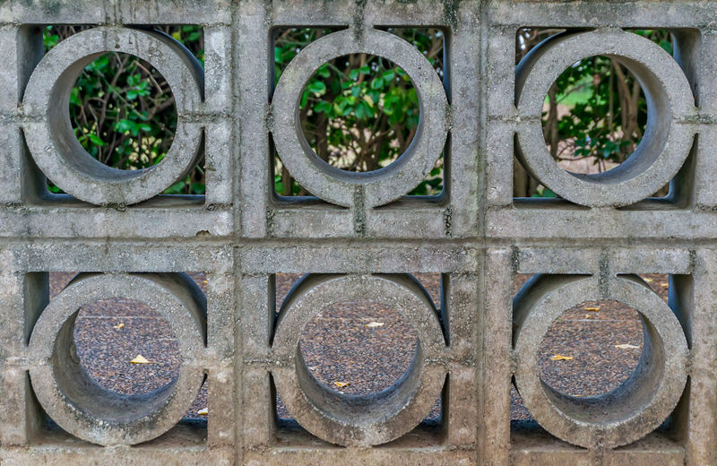 Circles & Squares Circle Garden Green Outdoors Square Stone Trees Wall