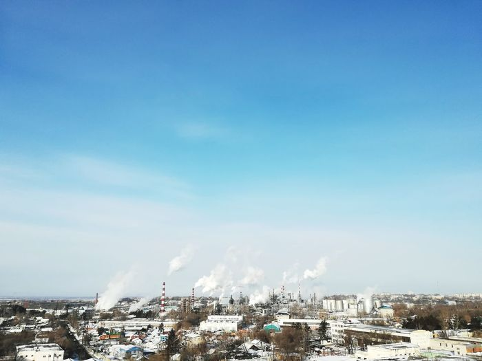 Khabarovsk, Russia City Cityscape Blue Bird Cold Temperature Urban Skyline Flying Sky EyeEmNewHere