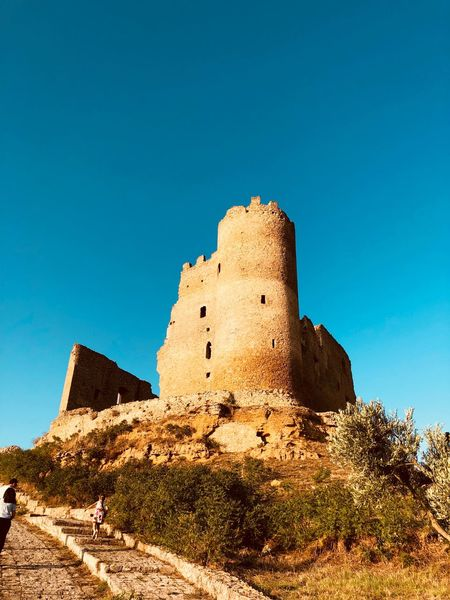 Castello di Mazzarino Mazzarino EyeEm Selects Sky Low Angle View The Past History Blue Nature