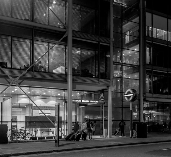 Euston Square Underground Station Transportation Railroad Station Architecture Underground Underground Station  Underground Station  Train Station Monochrome Black And White FUJIFILMXT2 Monochrome Photography FUJIFILM X-T2 London