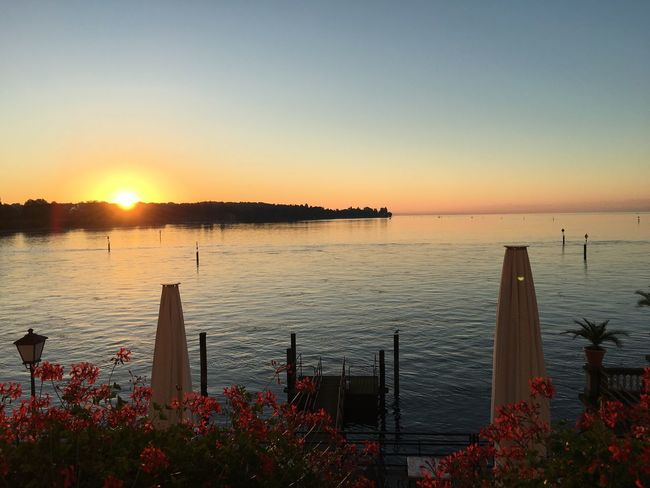 Sunset Bodensee Lake Constans Germany Steigenberger Hotel