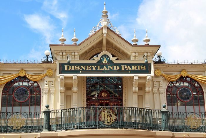 The main entrance and park train station at Disneyland Paris, Disney Disneyland DisneyWorld Disneyland Paris Disneylandparis Disneylandresort Disneyland Resort Paris Eurodisney Sign Signs Vacation Time Vacation Holiday Travel Tourism Entrance Main Entrance Paris Paris ❤ Paris, France