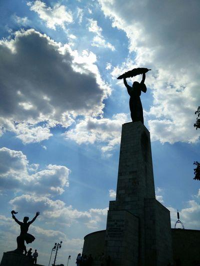Seeing The Sights Liberty Statue Budapest Libertystatue  Budapest Gellerthill Gellerthegy Citadella Citadellabudapest Szabadsag-szobor Monument Bottleopener