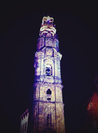 Clérigos tower Tower Clerigos Torredosclerigos AtNight Porto Eyem Porto Portugal Portugaldenorteasul