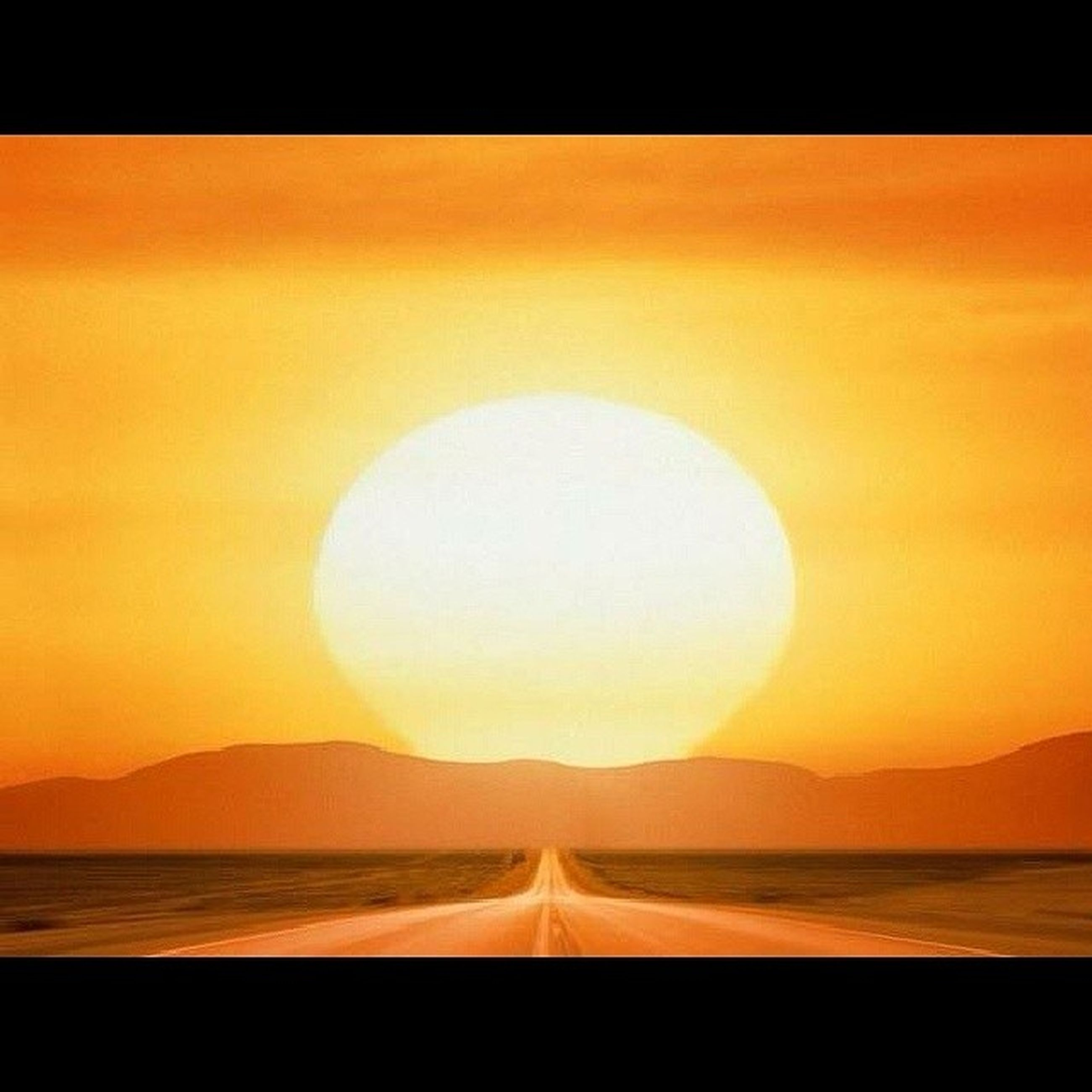 sunset, scenics, water, tranquil scene, mountain, beauty in nature, sea, tranquility, orange color, sun, idyllic, nature, reflection, sky, transportation, mountain range, non-urban scene, no people, horizon over water, remote