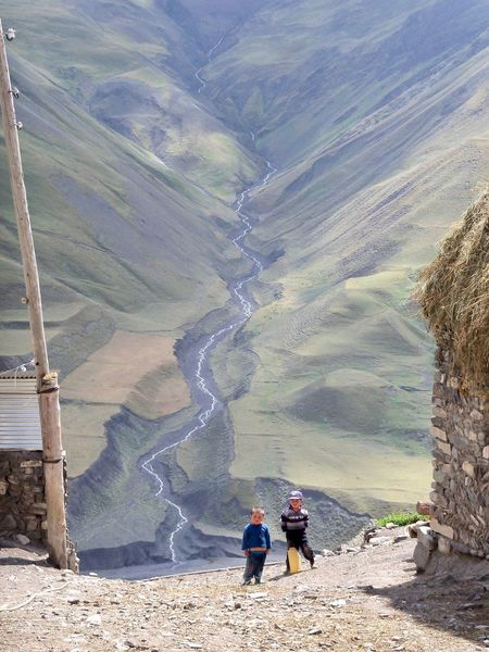 Azerbaijan Children Mountain Mountain Village Outdoors
