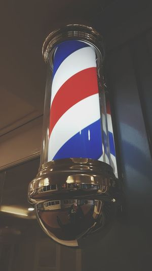 Striped No People Outdoors Barber Pole Barber Sign