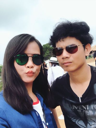Sunglasses Young Women Two People Looking At Camera Black Hair Real People Portrait Day Lifestyles Outdoors Togetherness Sky Adult People You And Me Jackungtogether Windtime Khaokho 😉👫💋