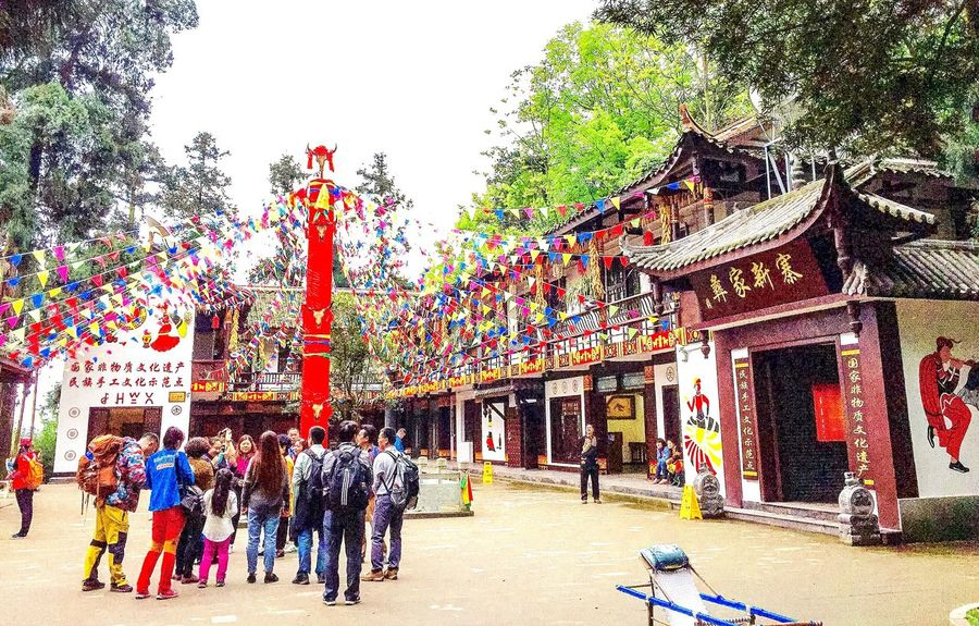 Prayer Site Prayer Flags  Prayer Flag Pole Architecture Building Decoration Tradition Culture Religion Colors Design People Travel Tourism Tourists Mount Emei Chinese Minority Sichuan China 43 Golden Moments Athleisure Colour Of Life Festival Season Music Brings Us Together People And Places