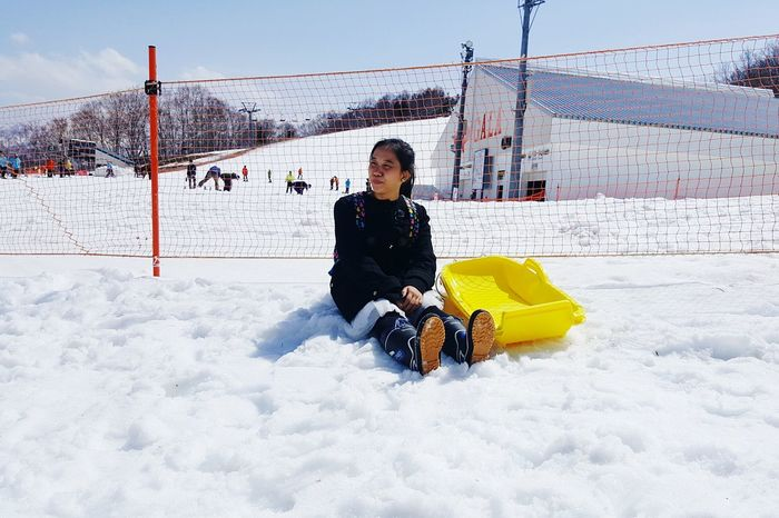 Japan Japan Photography Holiday April 2018 Snow Sled Galayuzawa Holiday Japan April2018 Galayuzawa Outdoors Cold Temperature White Color
