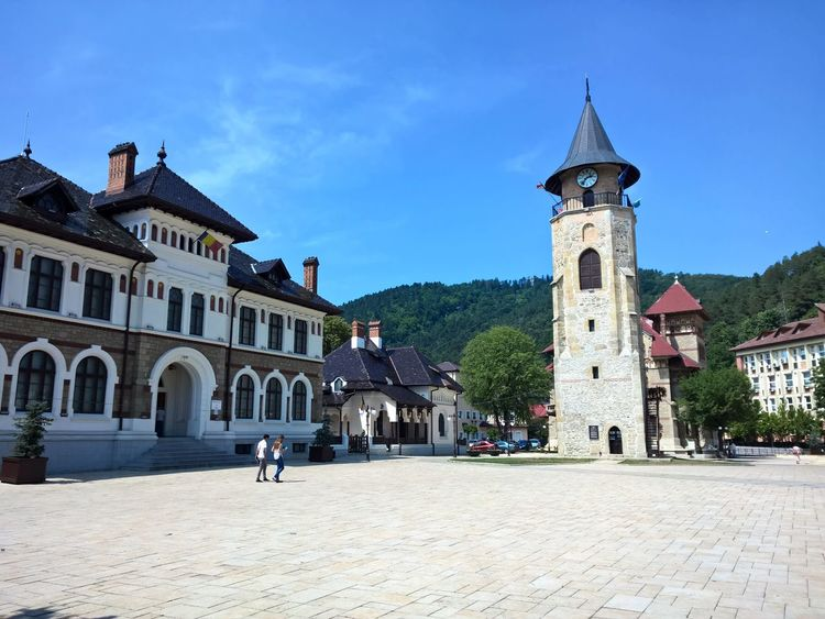 Historical Building Tower Museum Piatra Neamt Romania Central Square Architecture Day Sky Travel Destinations Building Exterior