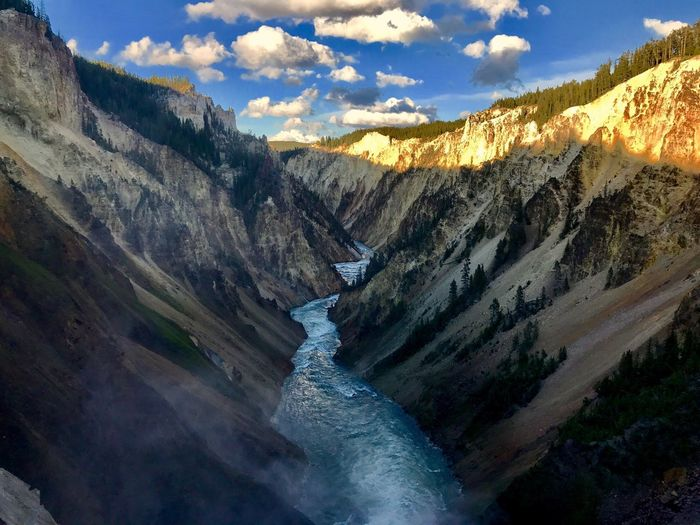 Yellowstone Upper Falls Yellowstone National Park Upperfalls Waterfall River Stream Water Falls Physical Geography Yellowstone Yellowstone River Yellowstonenationalpark