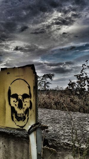Abandoned Places Close-up Cloud - Sky No People Outdoors Post-apocalyptic Skull