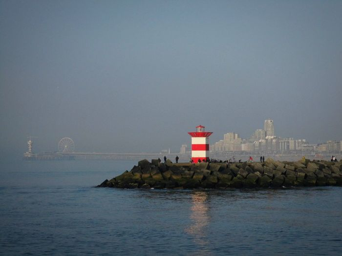 Water Lighthouse Sea Sky Building Exterior Built Structure Horizon Over Water Architecture