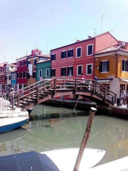 Burano Veneto Veneza Venice Venezia Italy Italia Vaporetto Canals Gondola