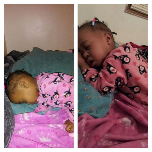 Bby Girl Ova Here K'd Out Snoring && Passn Gas In Her Sleep #JsLikeDaddy