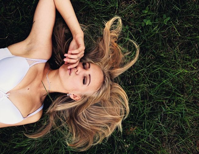 Girl portrait up down People Portrait Outdoors Still Life Lifestyle Summer Nature Grass Girl Hair Hairstyle Fashion Cute Blonde Hair Blonde Girl Blonde Relaxing Women Around The World