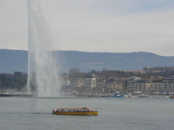 Cloud Geneva Geneve Lake Nautical Vessel Outdoors River Swiss Switzerland Tourism Tourist Transportation Travel Travel Destinations Trip Water Waterfront Seeing The Sights
