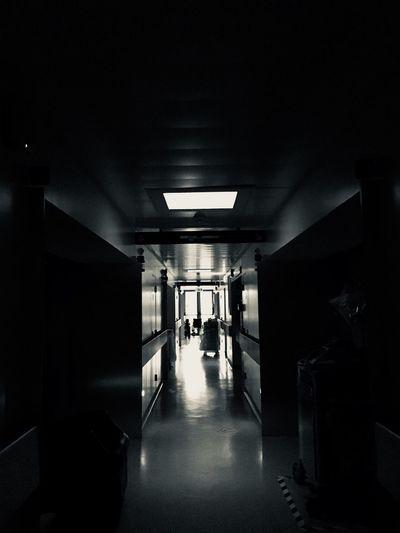 ##nightshift #hospital Architecture Corridor Arcade Indoors  Built Structure Building Illuminated The Way Forward Direction Flooring