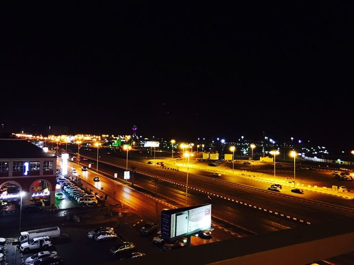 Miles Away Evenings at Corniche Night Illuminated Transportation Copy Space City Road High Angle View Traffic No People Architecture Speed Sky Outdoors