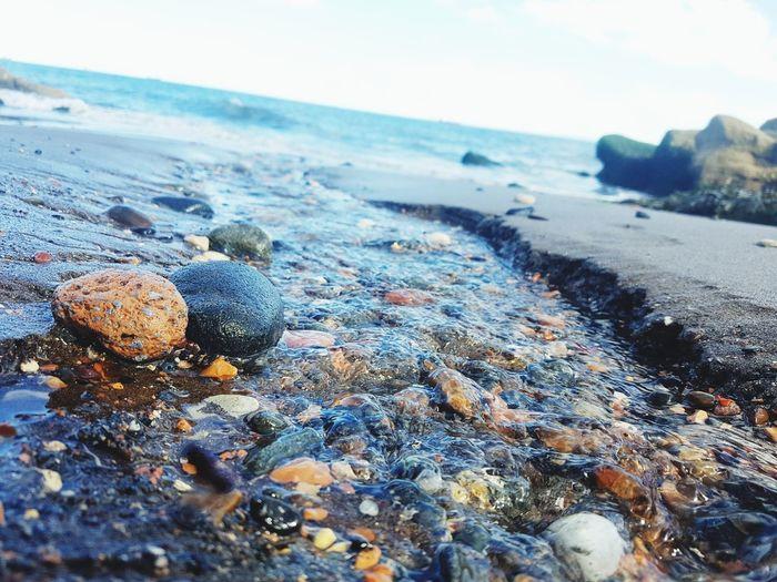 The beauty of nature Beach Sea Sand Nature Outdoors No People Tranquil Scene Horizon Over Water Pebble Sky Beauty In Nature Close-up Sea Life Pebble Beach EyeEm Selects Scotland Eyeemphotography Ravenscraig EyeEmNewHere Summer