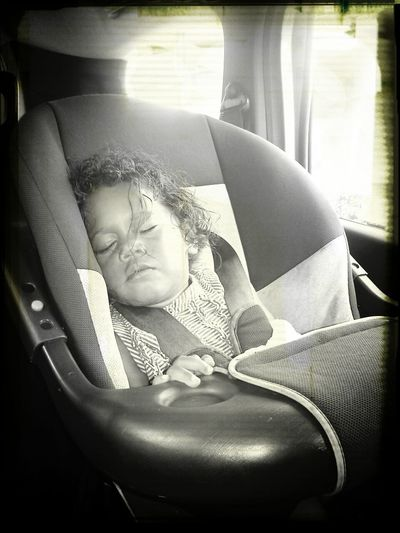 My Child Sleeping Monochrome Portrait