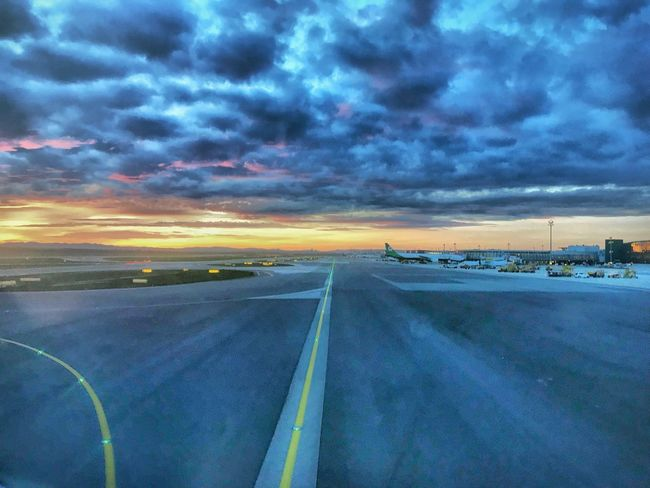 Good evening, Vienna ! EyeEmNewHere Taxiway EyeEm Best Shots Transportation Sky Cloud - Sky No People Sunset Outdoors