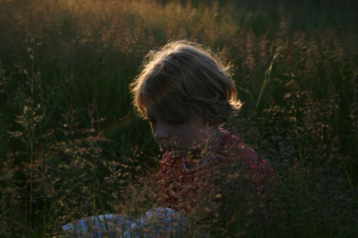 There is a picture of me when I was about 4 years old and it looks exactly like this of my Littlebrother :) Evening Sunlight Plants Nature Beautiful