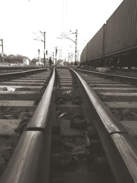 Long Lines Leading Lines Train Track EyeEm Best Shots Photo Of The Day Girls Mobileart Hello World Check This Out
