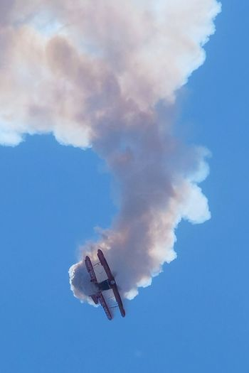 Smokin' Cloud - Sky Sky Low Angle View Smoke - Physical Structure Air Vehicle Flying Blue
