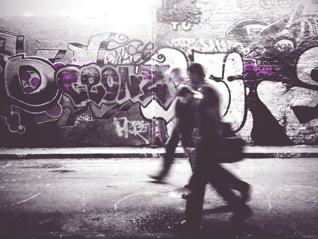 White Collars Walking Andrographer Streetart Peoplewalkingpastwalls Writing On The Walls