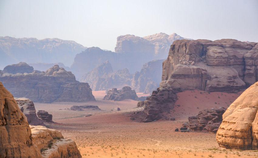 The wadi rum desert in jordan