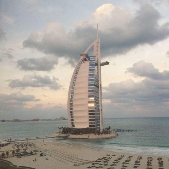 View from the window Burjalarab Dubai
