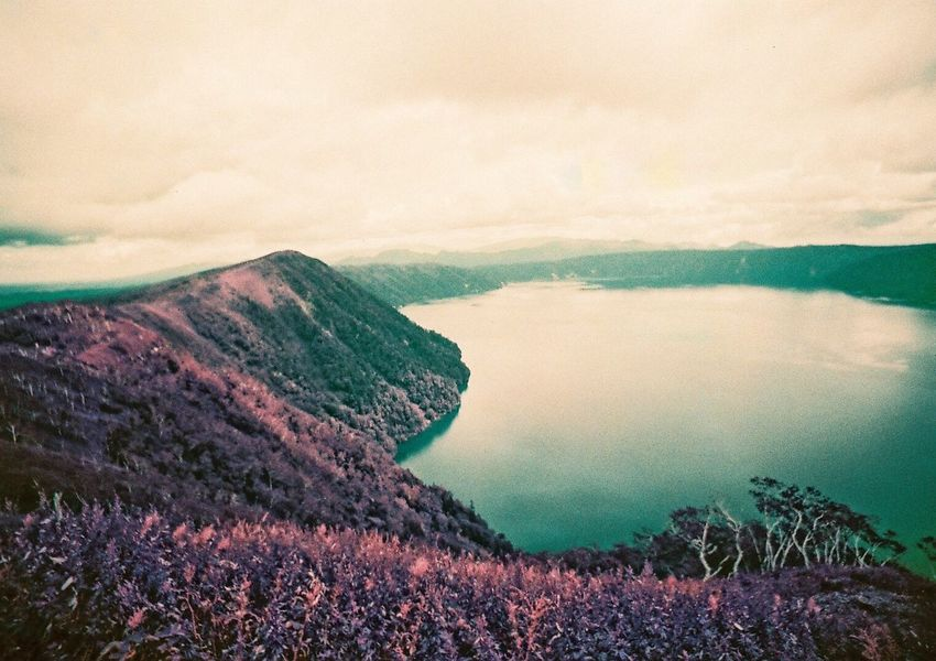 Neon Life Beauty In Nature Scenics Mountain Nature Tranquil Scene Tranquility Landscape Idyllic No People Mountain Range Outdoors Day Sky Cloud - Sky Physical Geography Purple Japan Photography Japan