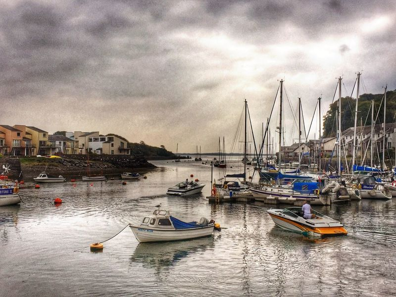 Boats Sea Seagull Porthmadog Harbour IPhoneography HDR Eye4photography  EyeEm Gallery Water Reflections